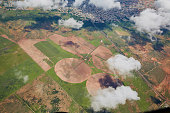 istock Aerial view of agriculture fields 1265044074