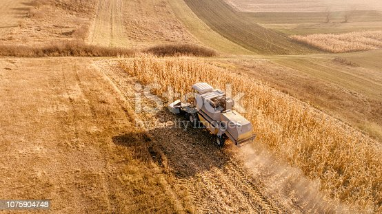 1072634078 istock photo Aerial view of agriculture industry 1075904748