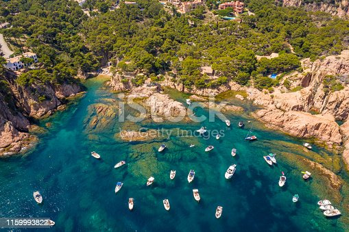 view of aigua xelida bay in Begur, Costa brava, Spain