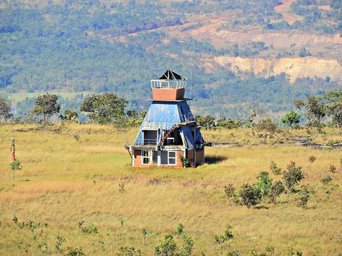 istock Aerial view of Alto do Céu Observatory, Chapada dos Guimarães, Mato Grosso, Brazil. Great landscape. Travel destination. Vacation travel. Sky High Observatory. Touristic point. 1160436993
