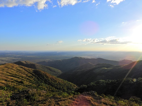 istock Aerial view of Alto do Céu Observatory, Chapada dos Guimarães, Mato Grosso, Brazil. Great landscape. Travel destination. Vacation travel. Sky High Observatory. Touristic point. 1160437199