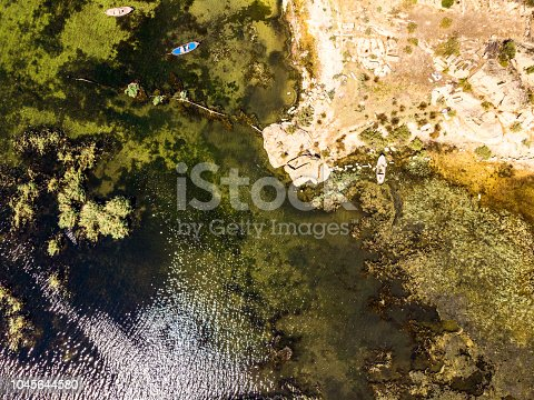 istock Aerial View of Amazing Natural Shapes and Textures 1045644580