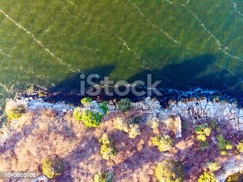 istock Aerial View of Amazing Natural Shapes and Textures 1045655108