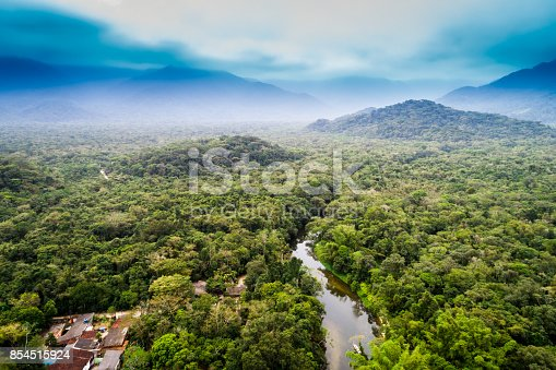 istock Aerial View of Amazon Rainforest, South America 854515924