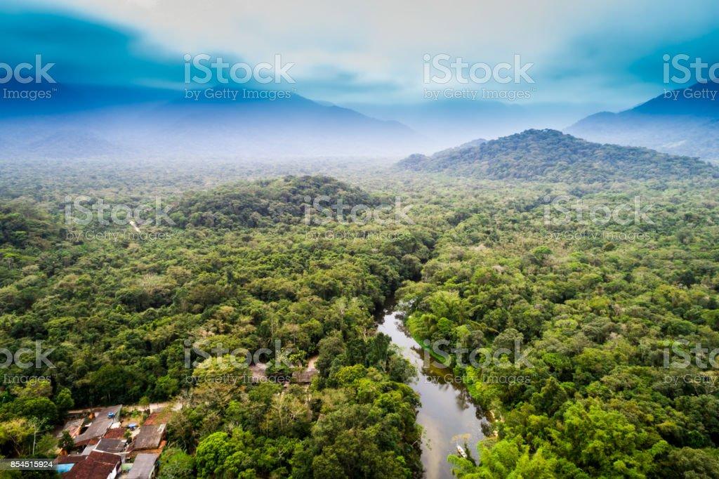 Vista aérea de la Amazonía, América del sur - foto de stock