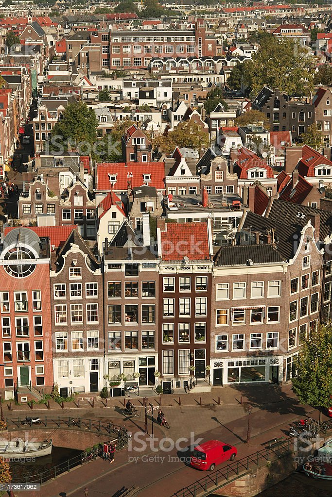Aerial View of Amsterdam royalty-free stock photo