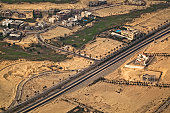 Aerial view of an African urban ( Cairo Egypt )