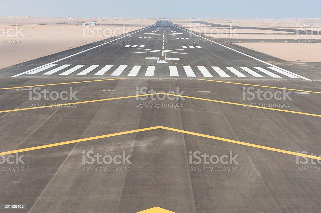 Vue aérienne de la piste de l'aéroport - Photo