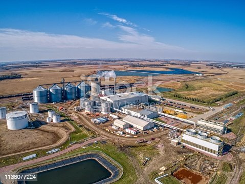 Aerial View of an Ethanol Plant in South Dakota