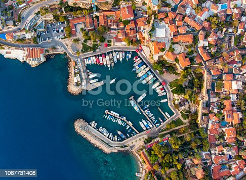 istock Aerial View Of Antalya Harbour (Kaleici) 1067731408