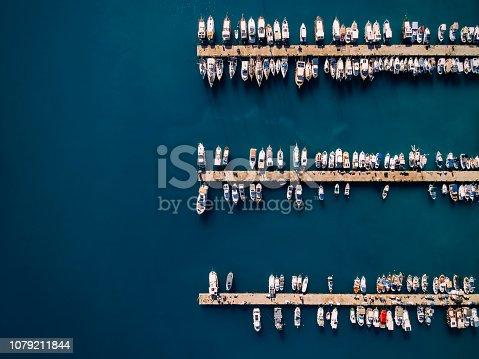 642777700 istock photo Aerial view of Antalya Marina. Sailboat and Yachts 1079211844