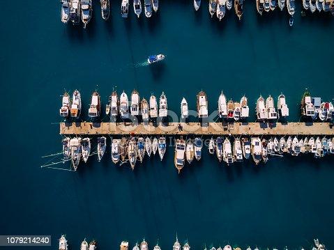 642777700 istock photo Aerial view of Antalya Marina. Sailboat and Yachts 1079214240