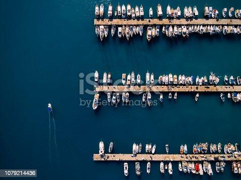 642777700 istock photo Aerial view of Antalya Marina. Sailboat and Yachts 1079214436