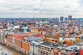 Antwerp city skyline. Antwerp is a city in Belgium and the capital of Antwerp province in the Flemish Region.