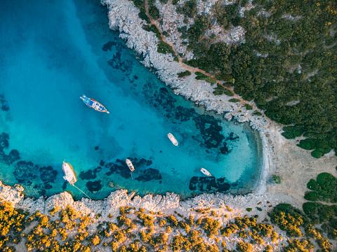 Aerial View of Aquarium Bay Bodrum
