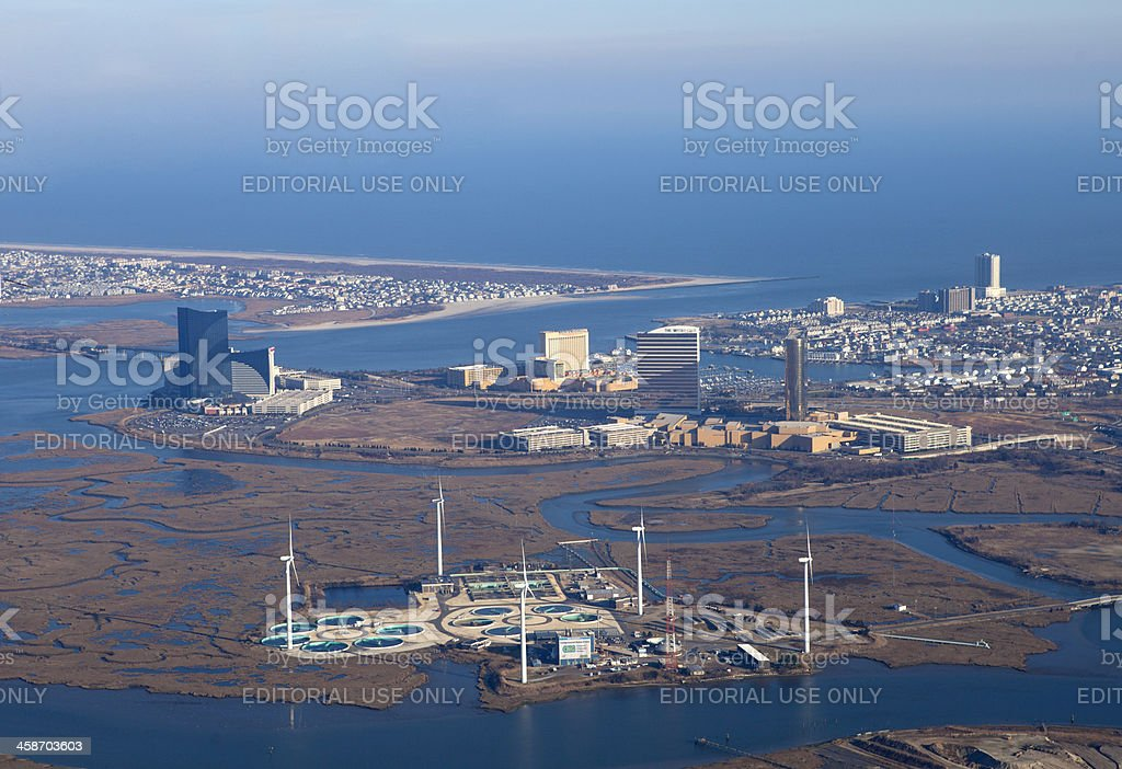 Aerial View of Atlantic City New Jersey royalty-free stock photo
