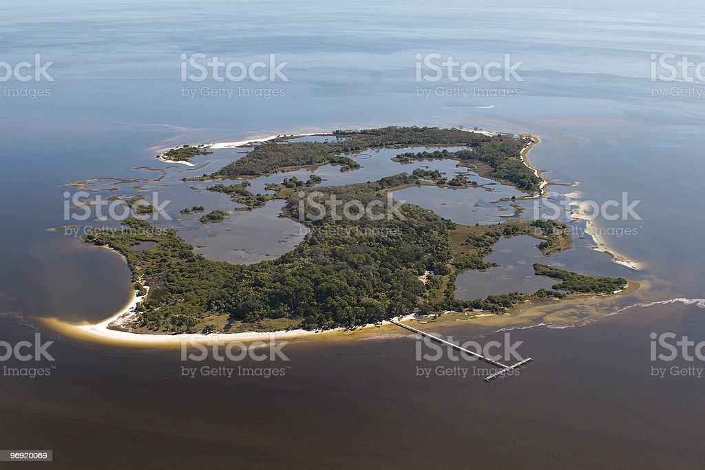 Aerial View of Atsena Otie Key Florida royalty-free stock photo