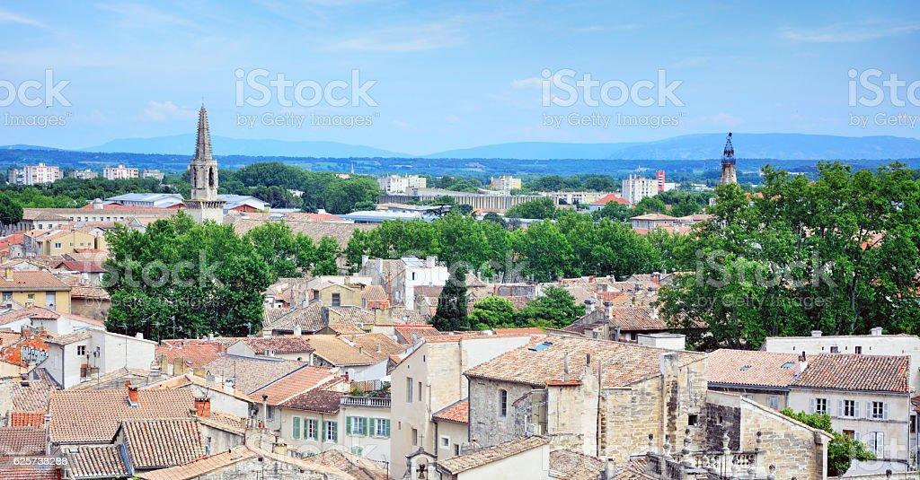 Aerial view of Avignon stock photo