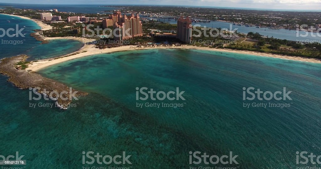 Aerial View of Bahamas royalty-free stock photo