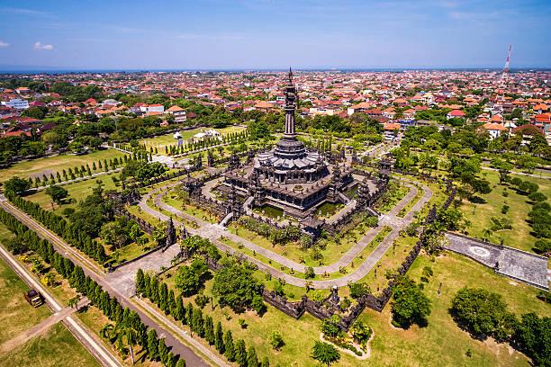 Aerial View of Bajra Sandhi Monument in Denpasar, Bali, Indonesia – Foto