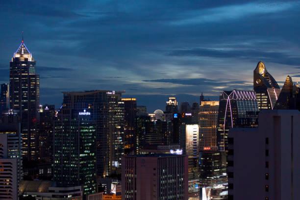 Aerial view of Bangkok stock photo