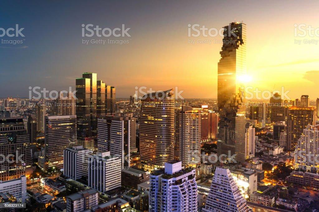 Aerial view of Bangkok圖像檔