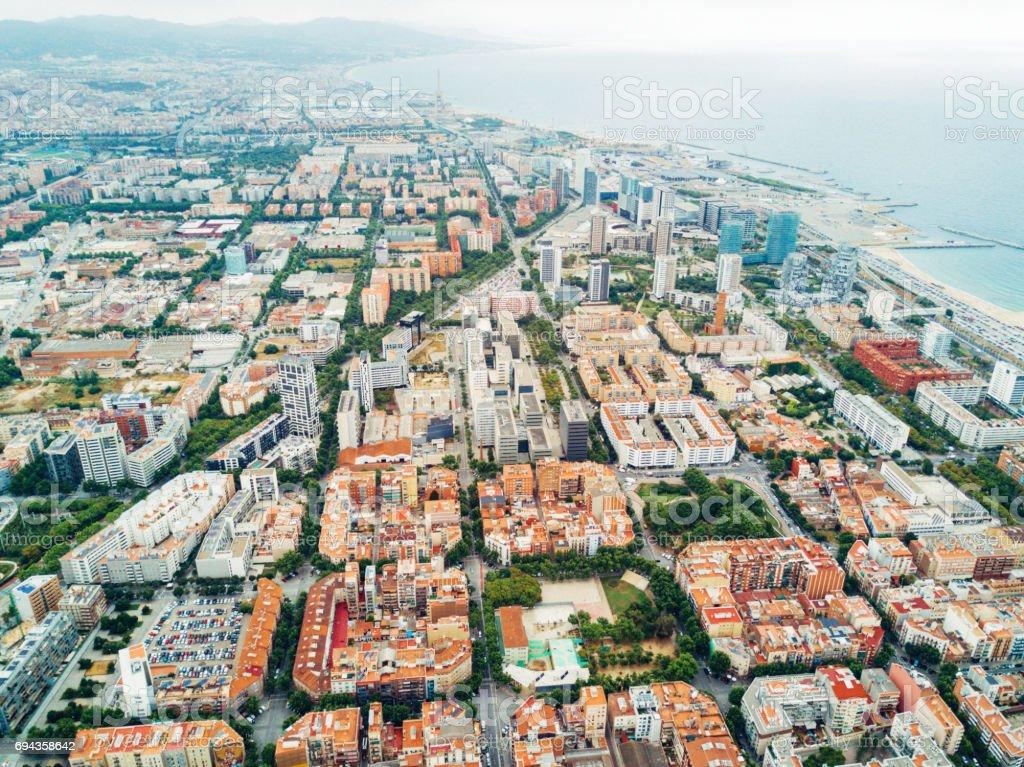 Vista aérea de Barcelona  - foto de stock