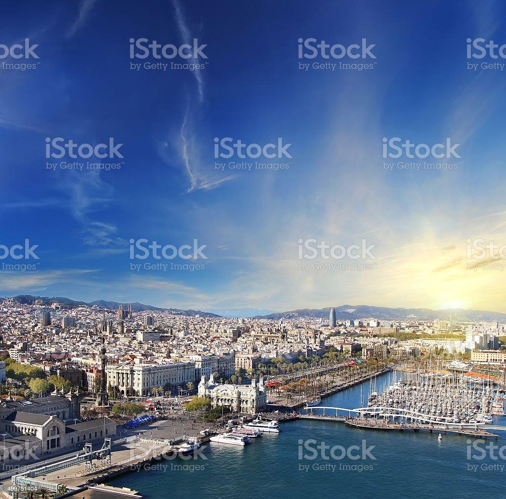 Vista aérea de Barcelona, España - foto de stock