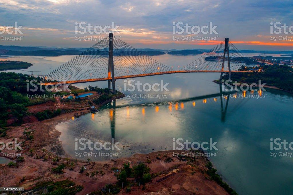 Aerial View Of Barelang Bridge A Chain Of Six Bridges Of