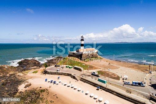 istock Aerial View of Barra Beach in Salvador, Bahia, Brazil 863794590