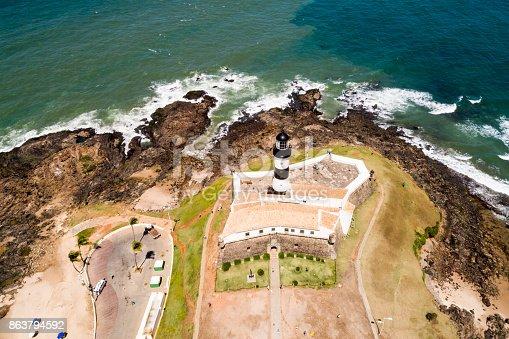 istock Aerial View of Barra Beach in Salvador, Bahia, Brazil 863794592
