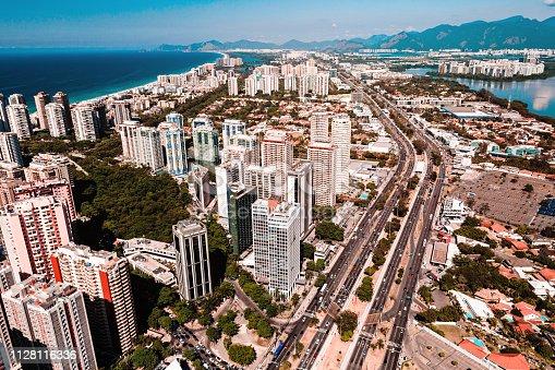 istock Aerial view of Barra da Tijuca at Rio de Janeiro 1128116336
