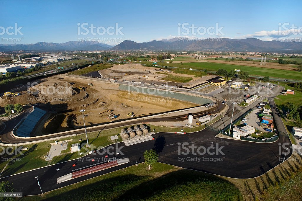 Aerial view of Barricalla, landfill of special and dangerous waste royalty-free stock photo
