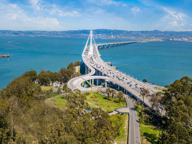 Aerial View of Bay Bridge stock photo