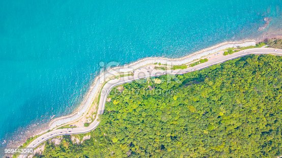 istock Aerial view of  Beautiful beach road at Chanthaburi Thailand 959443040