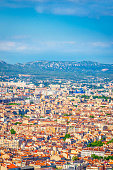Aerial view of beautiful city Marseilles, Provence, France