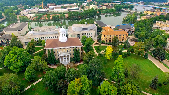istock Aerial View of Beautiful College Campus 497747288