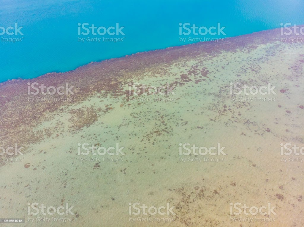 Aerial view of beautiful sea and ocean surface water for background royalty-free stock photo