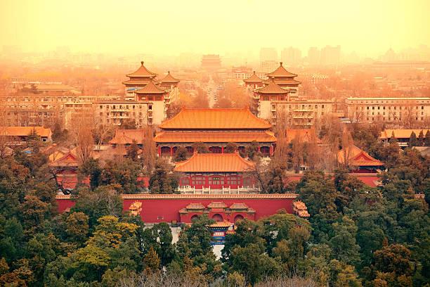 空から見た北京 - 北京 ストックフォトと画像