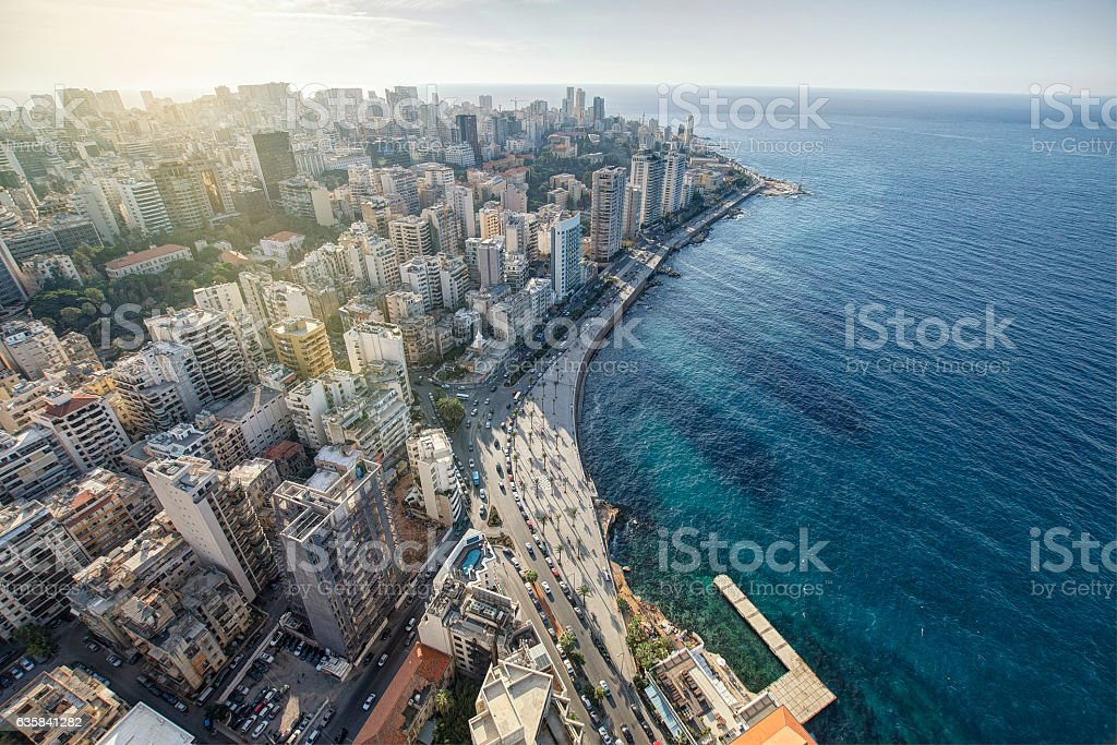 Aerial View of Beirut Lebanon, City of Beirut – Foto