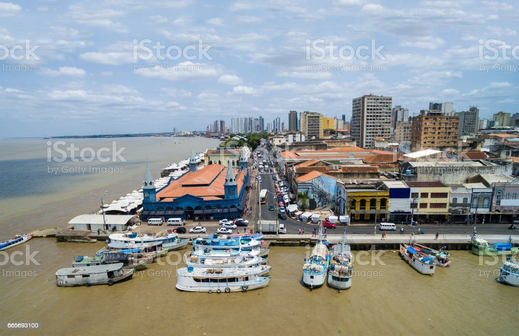 Aerial View of Belem do Para, Brazil stock photo