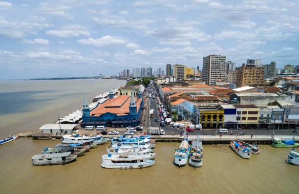 Aerial View of Belem do Para, Brazil stock photo