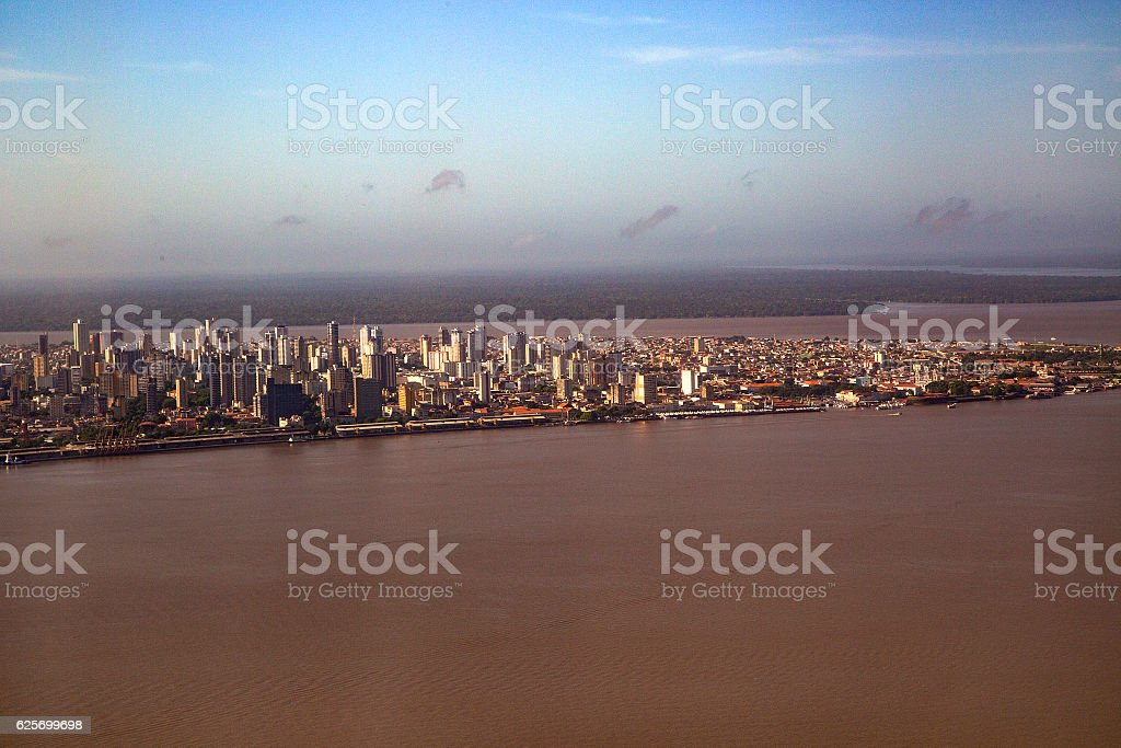 Aerial View of Belém, Pará State, Brazil stock photo