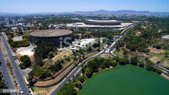 Aerial view of Belo Horizonte in Minas Gerais, Brazil