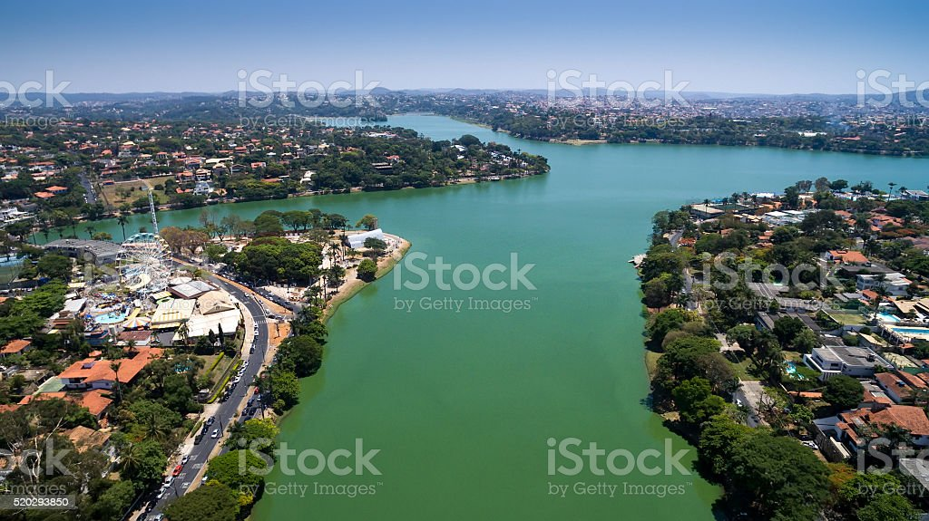 Aerial view of Belo Horizonte in Minas Gerais, Brazil stock photo