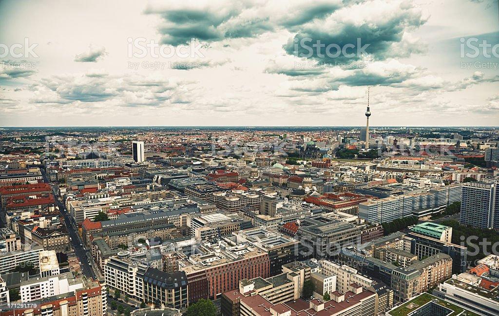 Luftbild von Berlin Alexanderplatz-Fernsehturm-Deutschland – Foto