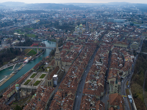 Aerial View of Bern cityscape
