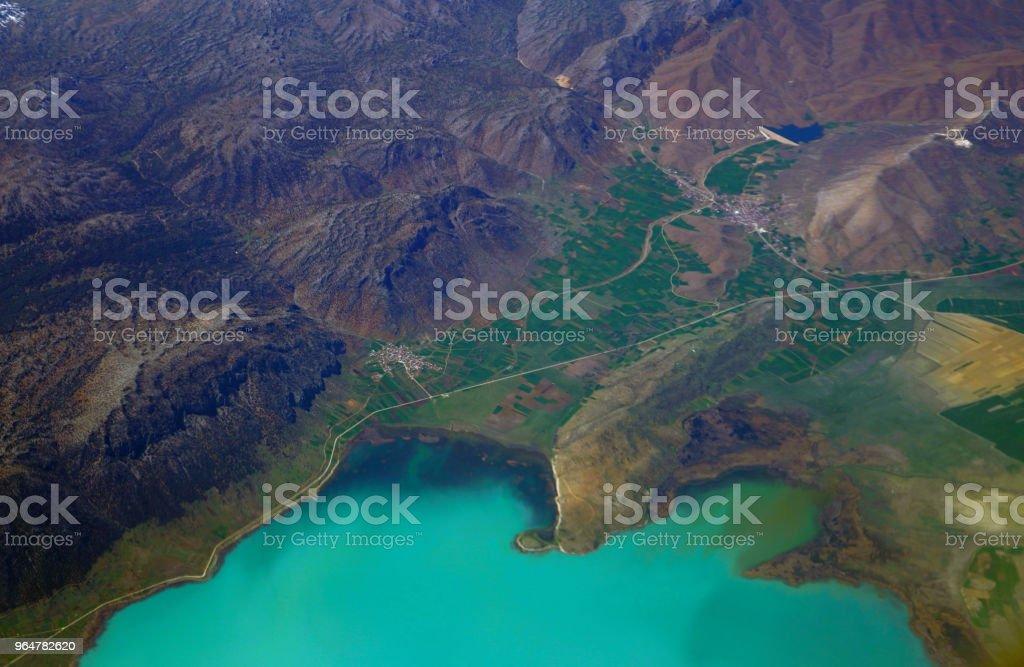 Aerial view of beysehir lake in Konya, Turkey royalty-free stock photo