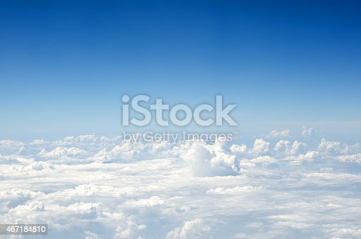 istock Aerial view of blue sky and clouds 467184810
