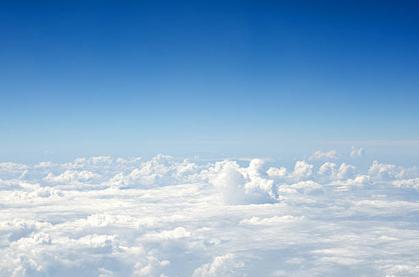 Aerial view of blue sky and clouds stock photo